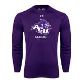 ACU Wildcat Under Armour Purple Long Sleeve Tech Tee-Alumni