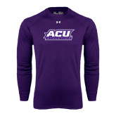 ACU Wildcat Under Armour Purple Long Sleeve Tech Tee-Athletics