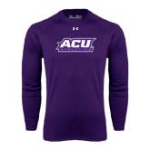 Under Armour Purple Long Sleeve Tech Tee-Athletics