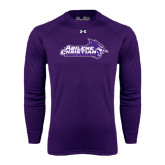 Abilene Christian Under Armour Purple Long Sleeve Tech Tee-Primary Logo