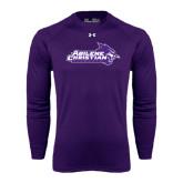 Under Armour Purple Long Sleeve Tech Tee-Primary Logo