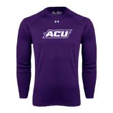 Abilene Christian Under Armour Purple Long Sleeve Tech Tee-ACU