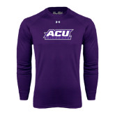 ACU Wildcat Under Armour Purple Long Sleeve Tech Tee-ACU Wildcats