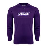 ACU Wildcat Under Armour Purple Long Sleeve Tech Tee-ACU Wildcats