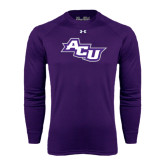 ACU Wildcat Under Armour Purple Long Sleeve Tech Tee-Angled ACU