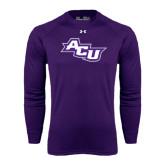 Under Armour Purple Long Sleeve Tech Tee-Angled ACU