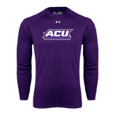 ACU Wildcat Under Armour Purple Long Sleeve Tech Tee-Basketball