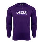 ACU Wildcat Under Armour Purple Long Sleeve Tech Tee-Baseball