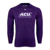 ACU Wildcat Under Armour Purple Long Sleeve Tech Tee-Softball