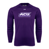 ACU Wildcat Under Armour Purple Long Sleeve Tech Tee-Track & Field