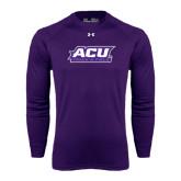 ACU Wildcat Under Armour Purple Long Sleeve Tech Tee-Track & Field