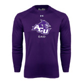 ACU Wildcat Under Armour Purple Long Sleeve Tech Tee-Dad
