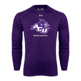 ACU Wildcat Under Armour Purple Long Sleeve Tech Tee-Grandpa