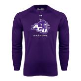 ACU Wildcat Under Armour Purple Long Sleeve Tech Tee-Grandpa