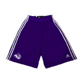 Adidas Climalite Purple Practice Short-Angled ACU w/Wildcat Head