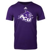 Adidas Purple Logo T Shirt-Angled ACU w/Wildcat Head