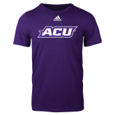 Adidas Purple Logo T Shirt-ACU