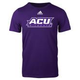 ACU Wildcat Adidas Purple Logo T Shirt-ACU Wildcats