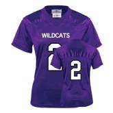 ACU Wildcat Ladies Purple Replica Football Jersey-#2