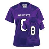 ACU Wildcat Ladies Purple Replica Football Jersey-#8