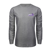 Grey Long Sleeve TShirt-Primary Logo
