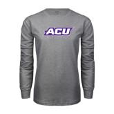 Abilene Christian Grey Long Sleeve TShirt-ACU