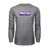 Grey Long Sleeve TShirt-ACU Wildcats