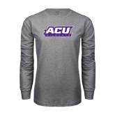 Abilene Christian Grey Long Sleeve TShirt-ACU Wildcats