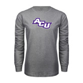 Grey Long Sleeve TShirt-Angled ACU