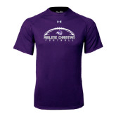 ACU Wildcat Under Armour Purple Tech Tee-Wide Football Design