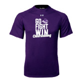 ACU Wildcat Under Armour Purple Tech Tee-Go Fight Win