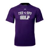 ACU Wildcat Under Armour Purple Tech Tee-Tee Off Golf Design
