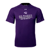 Under Armour Purple Tech Tee-Can You Dig It - Volleyball