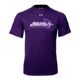 Abilene Christian Under Armour Purple Tech Tee-Primary Logo