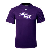 ACU Wildcat Under Armour Purple Tech Tee-Angled ACU