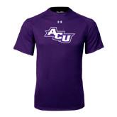ACU Wildcat Under Armour Purple Tech Tee-Angled ACU
