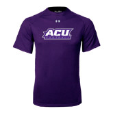 ACU Wildcat Under Armour Purple Tech Tee-Football