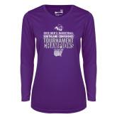 Ladies Syntrel Performance Purple Longsleeve Shirt-2019 Mens Basketball Champions
