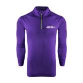 ACU Wildcat Under Armour Purple Tech 1/4 Zip Performance Shirt-Primary Logo