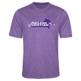 ACU Wildcat Performance Purple Heather Contender Tee-Primary Logo