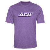 ACU Wildcat Performance Purple Heather Contender Tee-ACU