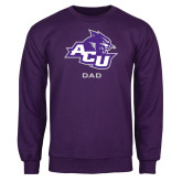 ACU Wildcat Purple Fleece Crew-Dad