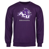 ACU Wildcat Purple Fleece Crew-Grandpa