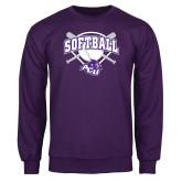 Purple Fleece Crew-Softball Bats and Plate Design