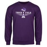 Purple Fleece Crew-Track and Field Shoe Design
