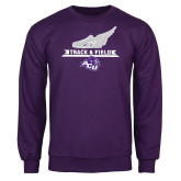 ACU Wildcat Purple Fleece Crew-Track and Field Side Shoe Design
