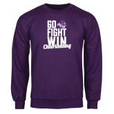 Purple Fleece Crew-Go Fight Win