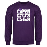 Purple Fleece Crew-Cheer, Cheer, Cheer