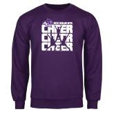 Purple Fleece Crew-Cheer, Cheer, Cheer