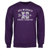 Purple Fleece Crew-Cross Country Design